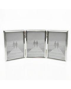 Van Ommen - Serie 304 - fotolijst - drieluik - 13x18 - zilver