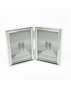 Van Ommen - Serie 304 - fotolijst - tweeluik - 9x13 - zilver