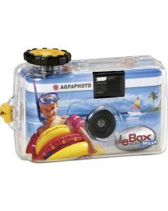 Agfa Le Box ocean waterproof eenmalige camera, 27 opnames