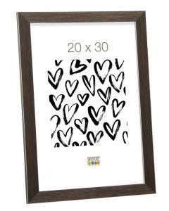 Deknudt - S41VK3 - fotolijst - voor 10x20 - bruin met zilverbies