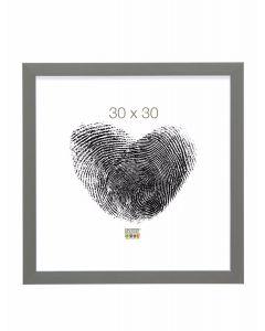 Deknudt - S41VK7 - fotolijst - voor 20x30 - grijs met zilverbies