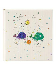 Goldbuch - Babyalbum - 'Walfamilie' - meerkleurig - witte bladen - 30x31cm