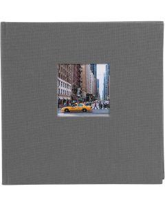 Goldbuch - Bella Vista - linnen fotoalbum - grijs - witte bladen - 25x25cm