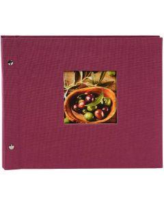Goldbuch - Bella Vista Losbladig fotoalbum - fuchsia - zwarte bladen - 30x25cm