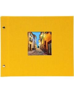 Goldbuch - Bella Vista Losbladig fotoalbum - geel - witte bladen - 39x31cm