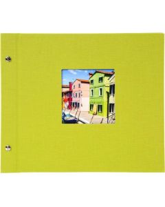 Goldbuch - Bella Vista Losbladig fotoalbum - groen - zwarte bladen - 39x31cm