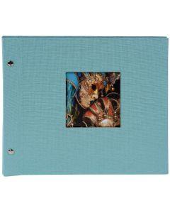 Goldbuch - Bella Vista Losbladig fotoalbum - lichtblauw - zwarte bladen - 30x25cm
