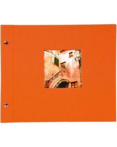 Goldbuch - Bella Vista Losbladig fotoalbum - oranje - zwarte bladen - 39x31cm