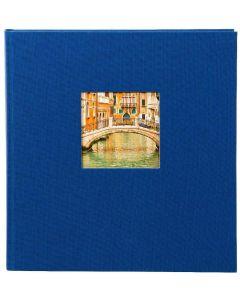 Goldbuch - Bella Vista - linnen fotoalbum - blauw - zwarte bladen - 30x31cm