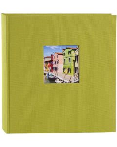 Goldbuch - Bella Vista - linnen fotoalbum - groen - witte bladen - 30x31cm