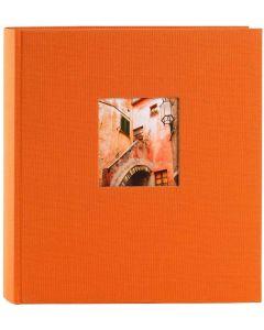 Goldbuch - Bella Vista - linnen fotoalbum - oranje - witte bladen - 30x31cm