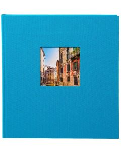 Goldbuch - Bella Vista - linnen fotoalbum - turquoise - 60  zwarte pagina's - 30x31cm