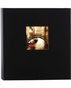 Goldbuch - Bella Vista - linnen fotoalbum - zwart - witte bladen - 30x31cm