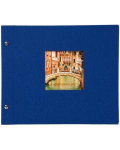 Goldbuch - Bella Vista Losbladig fotoalbum - blauw - zwarte bladen - 39x31cm