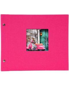 Goldbuch - Bella Vista Losbladig fotoalbum - roze - zwarte bladen - 30x25cm