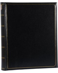 Henzo - Memory fotoalbum - zwart - witte bladen - 30x36,5cm