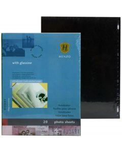 Henzo Photosheets zwart met pergamijn