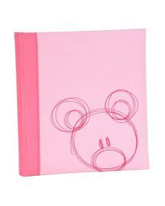 Henzo - Babyalbum - 'Sammy' - roze - witte bladen - 28x30,5cm