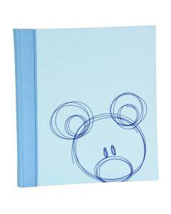 Henzo - Babyalbum - 'Sammy' - blauw - witte bladen - 28x30,5cm