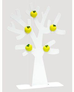 Fotoboom in wit metaal met 5 appel magneten