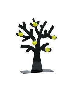 Fotoboom in zwart metaal met 5 appel magneten
