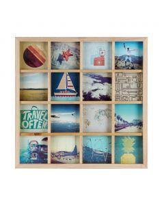 Umbra - GridArt - collagelijst - voor 16 foto's van 10x10 - lichtgekleurd