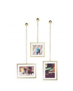 Umbra - Fotochain - ophangsysteem - set van 3 lijsten - goudkleurig