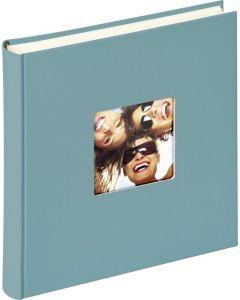 Walther - Fun - inplak fotoalbum - turquoise - witte bladen - 30x30cm
