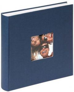 Walther - Fun - inplak fotoalbum - blauw - witte bladen - 30x30cm