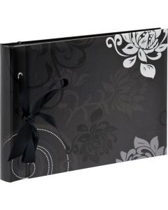 Walther - Grindy - inplak fotoalbum - meerkleurig - zwarte bladen - 23,5x16cm
