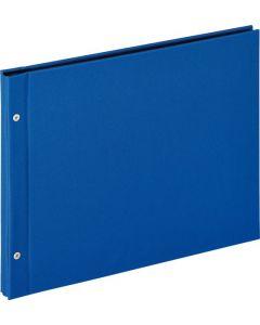 Walther - Lino - Losbladig fotoalbum - blauw - zwarte bladen - 31x39cm